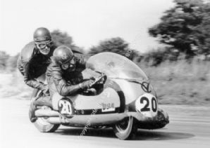 BSA Sidecar Photo Chris Vincent Snetterton Mid- 1960'S.  Photo